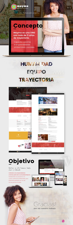 Mayma Website diseño y desarrollo.